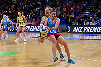 Steel's Gina Crampton and Pulse&rsquo; Claire Kersten in action during the ANZ Premiership - Pulse v Steel at Te Rauparaha Arena, Porirua, New Zealand on Wednesday 30 May 2018.<br /> Photo by Masanori Udagawa. <br /> www.photowellington.photoshelter.com