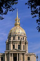France Famous Hotel des Invalides Dome where Napoleons Tomb resides in Paris France