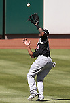 Sacramento's Michael Choice makes a play against the Reno Aces in Reno, Nev., on Sunday, April 14, 2013. The River Cats won 22-6..Photo by Cathleen Allison