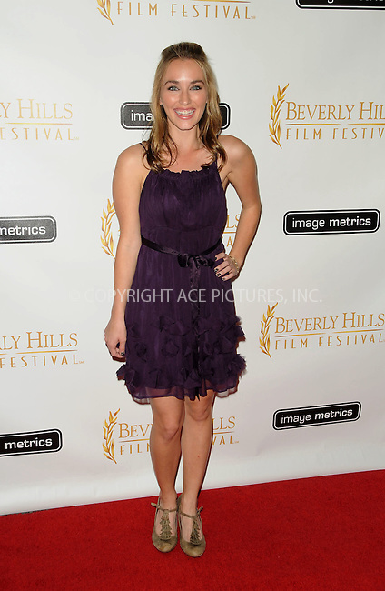WWW.ACEPIXS.COM . . . . . ....April 6 2011, Los Angeles....Meg Cionni arriving at the 11th Annual International Beverly Hills Film Festival Opening Night on April 6, 2011 in Beverly Hills, CA....Please byline: PETER WEST - ACEPIXS.COM....Ace Pictures, Inc:  ..(212) 243-8787 or (646) 679 0430..e-mail: picturedesk@acepixs.com..web: http://www.acepixs.com