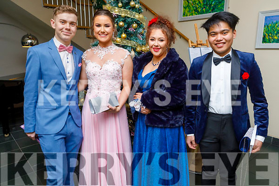Attending the CBS the Green Debs in the Ballyroe Heights Hotel on Monday night. <br /> L to r: Nathan Commerford, Jennifer Lynch, Molly Brosnan and Luke De Guzmal.