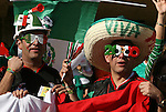 22 JUN 2010: Mexico fans. The Mexico National Team lost 1-2 to the Uruguay National Team at Royal Bafokeng Stadium in Rustenburg, South Africa in a 2010 FIFA World Cup Group A match.