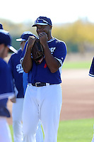Kenley Jansen of the Los Angeles Dodgers participates in the first day of spring training workouts at Camelback Ranch on February 9, 2014 in Glendale, Arizona (Bill Mitchell)