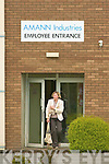 Kathleen Gilbride from Ballyheigue leaving Amann Industries after the disappointing news on Friday.