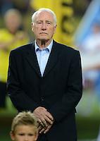 FUSSBALL   1. BUNDESLIGA   SAISON 2012/2013   1. SPIELTAG Borussia Dortmund - SV Werder Bremen                  24.08.2012      Hans Tilkowski (ehemaliger BVB Profi)