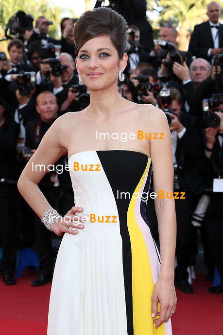 CPE/Actress Marion Cotillard attends the 'Blood Ties' Premiere during the 66th Annual Cannes Film Festival at the Palais des Festivals on May 20, 2013 in Cannes, France.