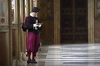 Swiss Guard;Pope Francis  Cyprus' President Nicos Anastasiades upon his arrival for a private audience at the Vatican on November 18, 2019.