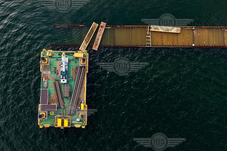 Construction of new yacht marina in Sopot.