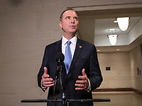 United States Representative Adam Schiff, Chairman, US House Permanent Select Committee on Intelligence, makes a statement after hearing a second day of testimony from Michael Cohen, former attorney to United States President Donald J. Trump, on Capitol Hill in Washington, DC on Wednesday, March 6, 2019. Photo Credit: Ron Sachs/CNP/AdMedia