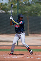 Cleveland Indians outfielder Jhon Torres (2) at bat during an Extended Spring Training game against the Arizona Diamondbacks at the Cleveland Indians Training Complex on May 27, 2018 in Goodyear, Arizona. (Zachary Lucy/Four Seam Images)
