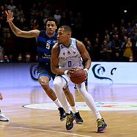 GRONINGEN - Basketbal, Donar - Landstede Zwolle, Halve finale Beker, seizoen 2019-2020, 13-02-2020,  Donar speler Matt Williams Jr met Landstede speler Sherron Dorsey-Walker