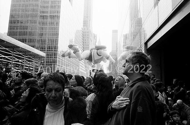 New York, New York<br /> November 26, 2009<br /> <br /> The Macy's Thanksgiving Day Parade in mid-town Manhattan.