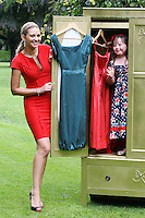 23/8/2010. launch Buy My Dress Online.TV3 presenter Anna Daly and Clara Lewis (Age 7), from Dalkey (who has Down syndrome) are pictured in St Stephens Green to launch Buy My Dress Online - Ireland's first online second-hand dress shop which will sell a range of lightly-used women's and children's dresses which have been donated to the charity by the Irish public. www.buymydressonline.ie. Picture James Horan/Collins Photos