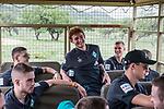 07.01.2019, Lion & Safari Park, Broederstroom, Kalkheuvel, RSA, TL Werder Bremen Johannesburg Tag 05<br /> <br /> im Bild / picture shows <br /> Milot Rashica (Werder Bremen #11), Joshua Sargent (Werder Bremen #19) lacht, Felix Beijmo (Werder Bremen #02), David Lennart Philipp (Werder Bremen #31), Marco Friedl (Werder Bremen #32) im Ausflugsbus, <br /> <br /> Teil der Spieler besucht am 5. Tag des Trainingslager eine geführte Tour im Lion & Safari Park, <br /> <br /> Foto © nordphoto / Ewert