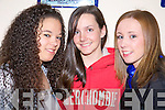 Enjoying the Sco?r North Kerry finals at St. Senan's club Mountcoal Listowel on Saturday night were Tara Finucane, Knockanure, Katie O' Connell, Ballydonoghue and Deirdre McCathy, Ballydonoghue..   Copyright Kerry's Eye 2008
