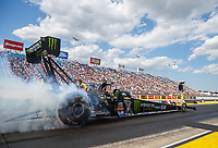 Jul 8, 2017; Joliet, IL, USA; NHRA top fuel driver Brittany Force during qualifying for the Route 66 Nationals at Route 66 Raceway. Mandatory Credit: Mark J. Rebilas-USA TODAY Sports