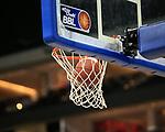 10.05.2019, Mercedes Benz Arena, Berlin, GER, ALBA BERLIN vs.  Eisbaeren Bremerhaven, <br /> im Bild Spielball im Korb<br /> <br />      <br /> Foto © nordphoto / Engler