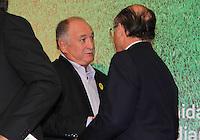 """SAO PAULO, SP, 09 DE FEVEREIRO 2012. O Governador Geraldo Alckmin e o Tecnico do Palmeiras Luis Felipe Scollari, na abertura do seminario """"Cidade Base - Oportunidades e Desafios em sediar Centros de Treinamento de Seleções para a Copa do Mundo da FIFA Brasil 2014"""", no Palacio dos Bandeirantes, regiao sul de SP, na manha desta quinta-feira, 09. (FOTO: MILENE CARDOSO - NEWS FREE)"""