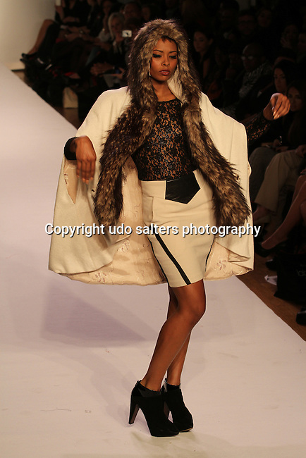Eva Marcille Walks in SACHIKA Presented by Vumee Fall/Winter 2012 collection<br /> Ivanka: If Ee ever Meet Again<br /> at Style360 New York Fashion week,   2/14/11