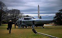 United States President Donald J. Trump departs the White House for a day trip to Charlotte, North Carolina in Washington, D.C. on Friday, February 7, 2020. <br /> Credit: Kevin Dietsch / Pool via CNP/AdMedia