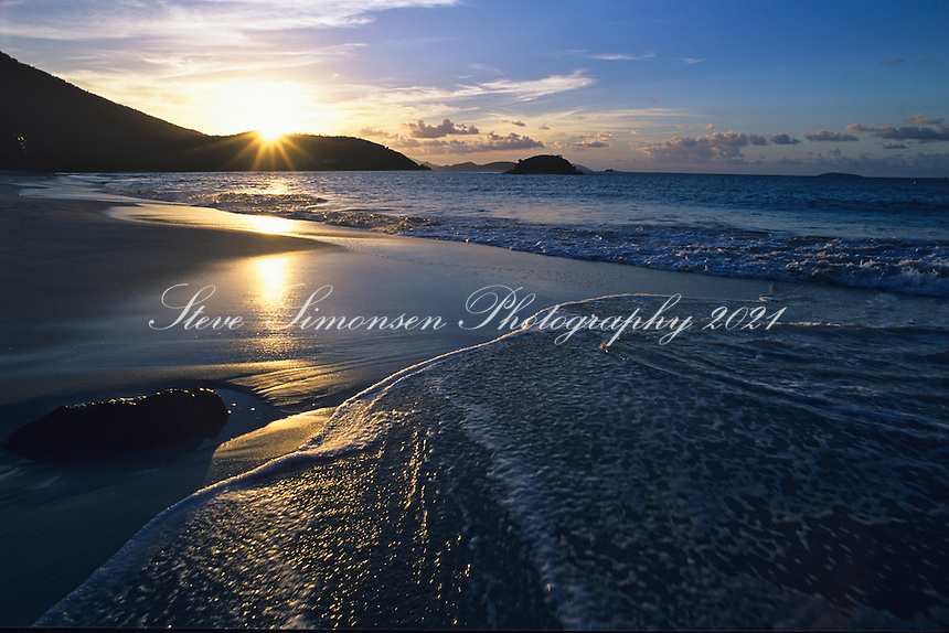 Sunset from Cinnamon Bay<br /> Virgin Islands National Park<br /> St John, US Virgin Islands