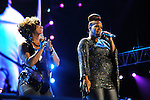 """Erica Atkins-Campbell and Trecina """"Tina"""" Atkins-Campbell of Mary Mary perform at the 2012 Essence Music Festival on July 7, 2012 in New Orleans, Louisiana at the Louisiana Superdome."""