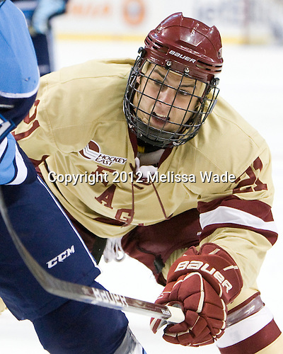 Steven Whitney (BC - 21) - The Boston College Eagles defeated the University of Maine Black Bears 4-1 to win the 2012 Hockey East championship on Saturday, March 17, 2012, at TD Garden in Boston, Massachusetts.