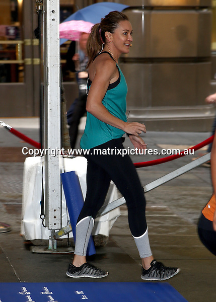 1 MARCH 2017 SYDNEY AUSTRALIA<br /> WWW.MATRIXPICTURES.COM.AU<br /> <br /> EXCLUSIVE PICTURES<br /> <br /> Michelle Bridges pictured with Steve (Commando) Willis run an early morning fitness class at the 2017 Travel Choices Festival.  <br /> <br /> Note: All editorial images subject to the following: For editorial use only. Additional clearance required for commercial, wireless, internet or promotional use.Images may not be altered or modified. Matrix Media Group makes no representations or warranties regarding names, trademarks or logos appearing in the images.