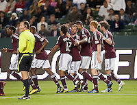 Coloardo Rapids celebrate Quincy Amarikwa's (12) goal during the first half of the game between Chivas USA and Colorado Rapids at the Home Depot Center in Carson, CA, on March 26, 2011. Final score Chivas USA 0, Colorado Rapids 1.