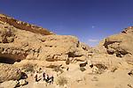 Israel, Negev, hiking in Nekarot Horseshoe