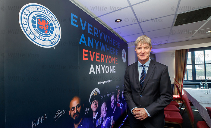 22.07.2019 Rangers launch diversity and inclusion campaign 'Everyone, Anyone'  at Ibrox today. Richard Gough