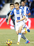 CD Leganes' Alexander Szymanowski (r) and Celta de Vigo's Pedro Pablo Hernandez during La Liga match. January 28,2017. (ALTERPHOTOS/Acero)