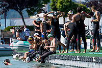 Start<br /> Men's 10km Final<br /> Open Water Swimming Balatonfured<br /> Day 05 18/07/2017 <br /> XVII FINA World Championships Aquatics<br /> Lake Balaton Budapest Hungary<br /> Photo @ A.Masini/Deepbluemedia/Insidefoto