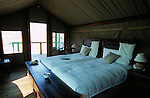 Intérieur d'une tente du Skeleton Coast Camp  (Wilderness safari) . Namibie. Afrique.Namibia; Africa