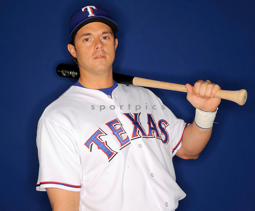 FRANK CATALANOTTO, of the Texas Rangers, during photo day of spring training and the Ranger's training camp in Surprise, Arizona on February 24, 2009.