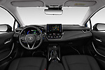 Stock photo of straight dashboard view of a 2019 Toyota Corolla Dynamic 4 Door Sedan