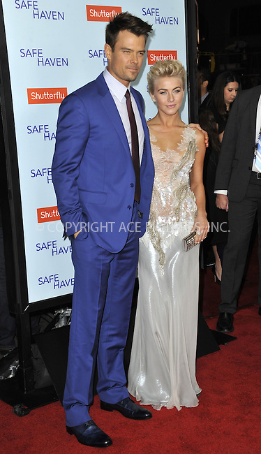 WWW.ACEPIXS.COM....February 5 2013, LA....Julianne Hough and Josh Duhamel arriving at the 'Safe Haven' - Los Angeles Premiere at TCL Chinese Theatre on February 5, 2013 in Hollywood, California.....By Line: Peter West/ACE Pictures......ACE Pictures, Inc...tel: 646 769 0430..Email: info@acepixs.com..www.acepixs.com