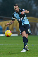 Wycombe Wanderers captain Paul Hayes plays a through ball during the Sky Bet League 2 match between Mansfield Town and Wycombe Wanderers at the One Call Stadium, Mansfield, England on 31 October 2015. Photo by Garry Griffiths.