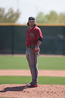 Arizona Diamondbacks relief pitcher Mason McCullough (47) looks to his catcher for the sign during a Minor League Spring Training intrasquad game at Salt River Fields at Talking Stick on March 12, 2018 in Scottsdale, Arizona. (Zachary Lucy/Four Seam Images)