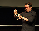 "Edinburgh, UK. 26.08.2015. Comedian and political activist, Mark Thomas, in ""Trespass"" in the Dissection Room of Summerhall, at the Edinburgh Festival Fringe. Photograph © Jane Hobson."