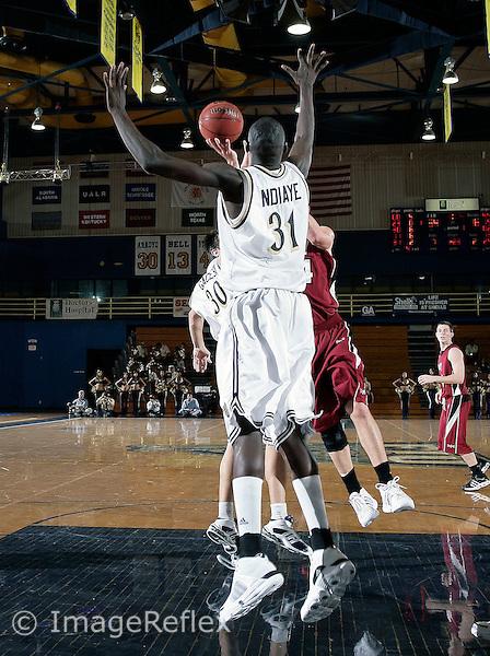 Florida International University center Badara Ndiaye (31) defends against Troy University on January 09, 2008. FIU won the game 74-49..