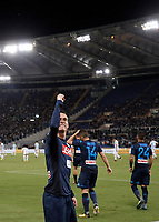 Calcio, Serie A: Roma, stadio Olimpico, 20 settembre 2017.<br /> Napoli's Jos&eacute; Maria Callejon celebrates after scoring during the Italian Serie A football match between Lazio and Napoli at Rome's Olympic stadium, September 20, 2017.<br /> UPDATE IMAGES PRESS/Isabella Bonotto