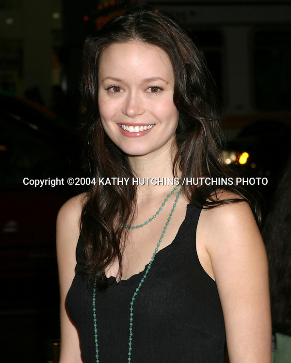 """©2004 KATHY HUTCHINS /HUTCHINS PHOTO.""""IN GOOD COMPANY"""" PREMIERE.GRAUMAN'S CHINESE THEATER .LOS ANGELES, CA.DECEMBER 6, 2004..SUMMER GLAU."""