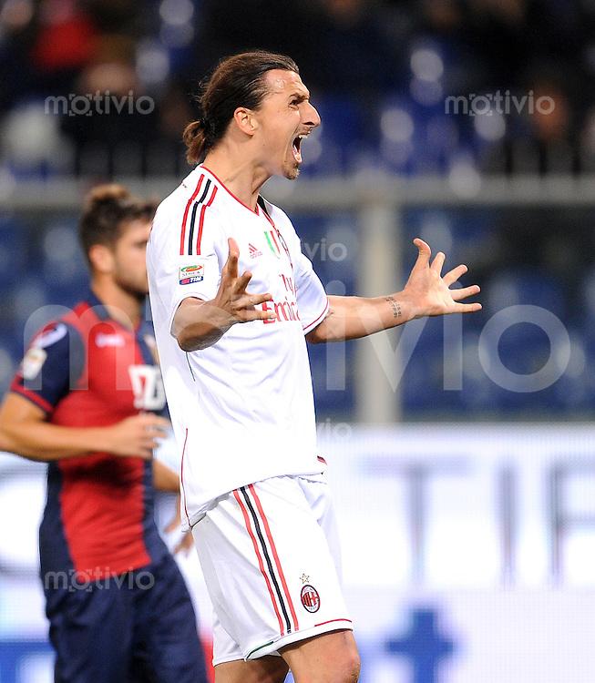 FUSSBALL INTERNATIONAL   SERIE A   SAISON 2011/2012    Genua - AC Mailand   02.12.2011 Zlatan Ibrahimovic (AC Mailand)