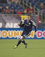 New England Revolution forward Zak Boggs (33). In a Major League Soccer (MLS) match, the New England Revolution defeated Sporting Kansas City, 3-2, at Gillette Stadium on April 23, 2011.