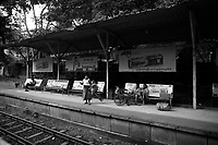 Train Station, Yangon, Myanmar in 2017