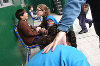 Autistic kids receive special education in the school of AUPA institution in the outskirts of Buenos Aires, Argentina.