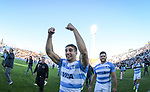 06/09/2018. Malvinas Argentinas Stadium, Mendoza, Argentina. The Rugby Championship 2018, Round 2, Los Pumas beat the Spingboks at home 32 to 19. Rookie Juan Cruz Mallia celebrating after the match. /Maximiliano Aceiton/Trysportimages