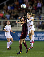 Michaela Hahn, Morgan Conklin. Florida State defeated Virginia Tech, 3-2,  at the NCAA Women's College Cup semifinals at WakeMed Soccer Park in Cary, NC.