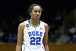 19 December 2013: Duke's Oderah Chidom. The Duke University Blue Devils played the University at Albany, The State University of New York Great Danes at Cameron Indoor Stadium in Durham, North Carolina in a 2013-14 NCAA Division I Women's Basketball game. Duke won the game 80-51.